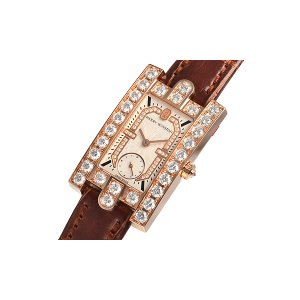 Harry Winston [NEW] Avenue Classic quartz 18K rose gold timepiece white light partially AVEQHM21RR122