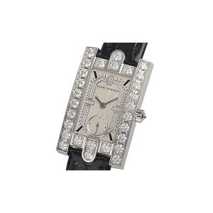 Harry Winston [NEW] Avenue Classic quartz 18K white gold white light partially set dial AVEQHM21WW283