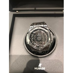 Hublot [NEW][LIMITED 200] Big Bang Ceramic Sang Bleu All Black 415.CX.1114.VR.MXM17 (Retail:HK$158,100) - SOLD!!