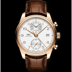 IWC NEW IW390301 Portugieser Chronograph Classic Rose Gold Watch