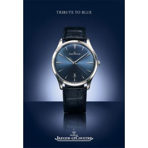 """Jaeger-LeCoultre [NEW][LIMITED] Bucherer Master Ultra Thin Date """"BLUE EDITION"""" (Retail:CHF 8200)"""