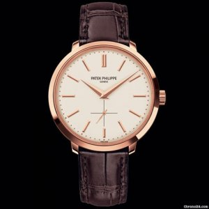 Patek Philippe (百达翡丽) [NEW] Calavatra Mens Rose Gold 5123R-001 (Retail:HK$186,700)
