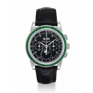 Patek Philippe [NEW] 5271/13P-001 EMERALD Baguette Perpetual Calendar Watch