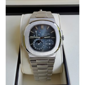 "Patek Philippe [NEW] Mens Stainless Steel ""Nautilus"" 5712/1A-001 Blue Dial Watch"