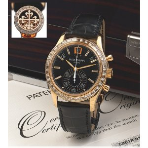 Patek Philippe [NEW][RARE] 5961R-010 Annual Calendar Chronograph Rose Gold Watch