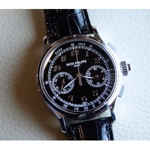 Patek Philippe [NEW] Split-Seconds Chronograph 41mm Black Enamel Dial 5370P