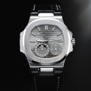 Patek Philippe [NEW] WG Power Reserve Moonphase Nautilus B&P 5712G (Retail:HK$325,900)