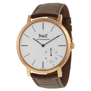 Piaget [NEW] Altiplano Automatic Silver Dial Brown Leather Mens G0A35131 (Retail:US$21900)