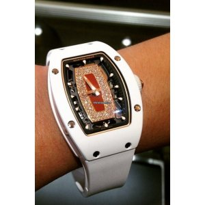 Richard Mille [NEW & RARE] Ladies RM 007 White Ceramic Red Lip RM7 Watch