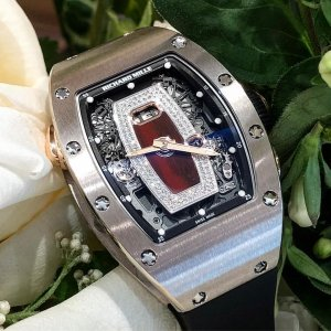 Richard Mille [NEW] RM 037 White Gold Jasper Dial Ladies Automatic with Date Function
