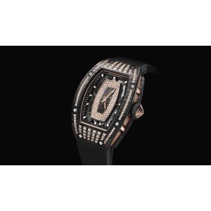 Richard Mille [NEW] RM 07-01 NTPT Carbon Half Set Diamonds Ladies Watch