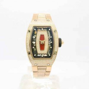 Richard Mille [NEW] RM 07-01 Rose Gold Full Set Pave Diamonds Closed Bracelet