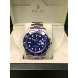 Rolex [MINT] Submariner Anniversary Blue Dial 116619LB White Gold - SOLD!!