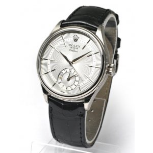 Rolex [NEW] 50529 Silver Guilloche WG Cellini Dual Time 39mm (List Price: HK$151,000)