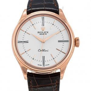 Rolex [NEW] Cellini Time 50505 White Dial 39mm Watch (Retail:HK$118,500)