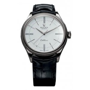 Rolex [NEW] Cellini Time WG 50509 White 39mm Watch (List Price: HK$118,500)