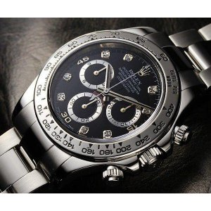 Rolex [NEW] Cosmograph Daytona 116509G Black Diamond Dial White Gold Watch