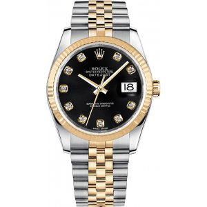 Rolex [NEW] Datejust 36mm Stainless Steel and 18KYG 116233 Mens Watch (Retail:HK$92,200)