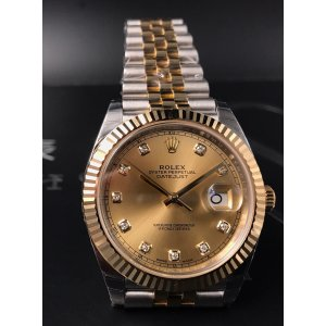 Rolex [NEW] Datejust 41mm 126333G Champagne and Diamond Dial Mens Jubilee