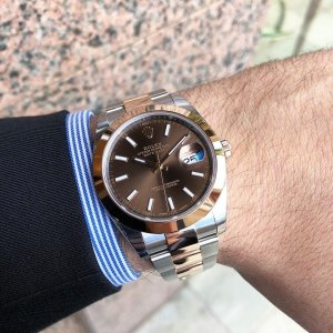 Rolex [NEW] Datejust 41mm Mens 126301 Chocolate Index Oyster