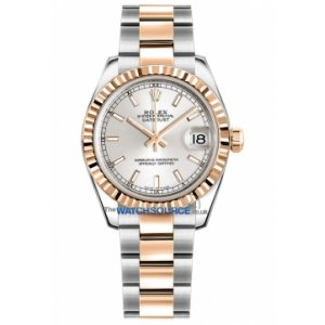 ROLEX [NEW] DATEJUST LADY 31mm Silver 178271 RG & Steel (Retail:HK$72,700)