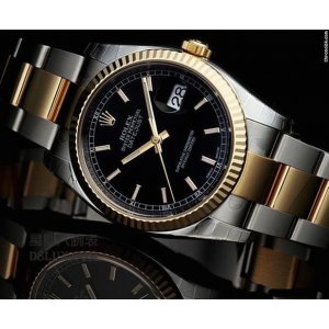 Rolex [NEW] Datejust Mens 116233 Black Index 36mm (Retail:HK$78,500)