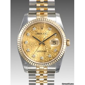 ROLEX [NEW] DATEJUST STEEL GOLD CHAMPAGNE JUBILEE DIAMOND DIAL (RETAIL:HK$92,200)