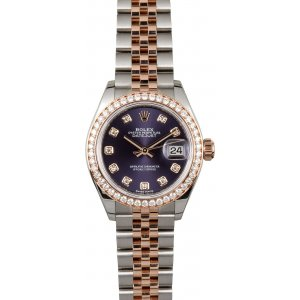 Rolex [NEW] Datjust 28mm with Diamond Bezel Jubilee 279381 Purple Aubergine Diamond Dial (Retail:HK$128,900)