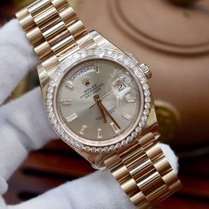 Rolex [NEW] Day-Date 40mm Rose Gold 228345RBR Sundust Diamond Dial & Diamond Bezel President Bracelet (Retail:HK$430,600)