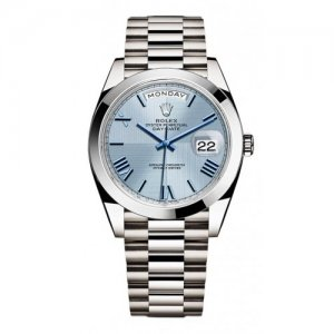 Rolex [NEW] Day-Date Platinum 228206 Ice Blue Quadrant Roman (Retail:HK$480,000)