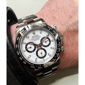 Rolex [NEW] Daytona 116500LN White Dial Cerachrom Black Bezel Watch