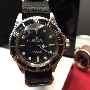 Rolex pre-owned vintage 5513 in good condition at HK$55,000 - SOLD!!